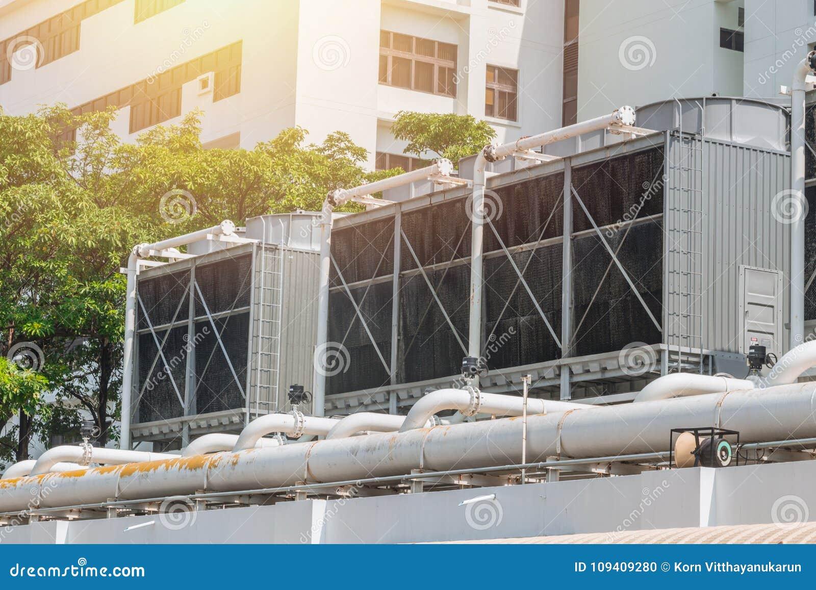 Refrigeradores del aire de la HVAC en unidades del tejado de acondicionador de aire