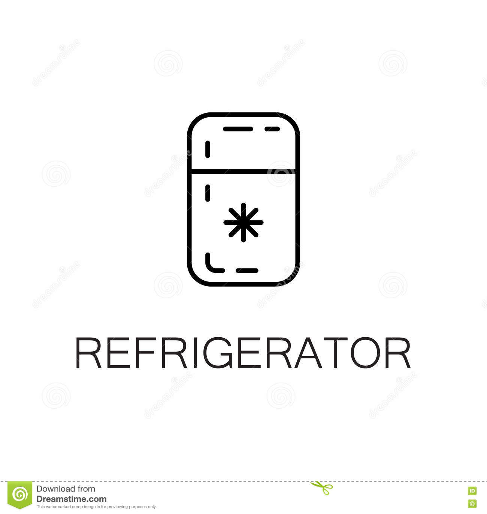 Refrigerator Flat Icon Or Logo For Web Design  Stock Vector