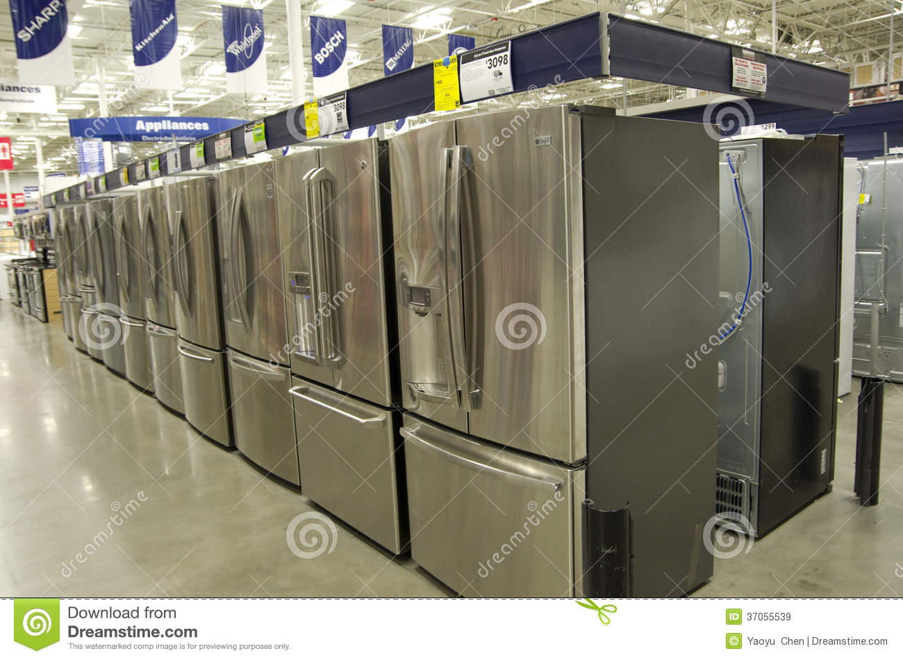 editorial stock photo download appliance at lowes