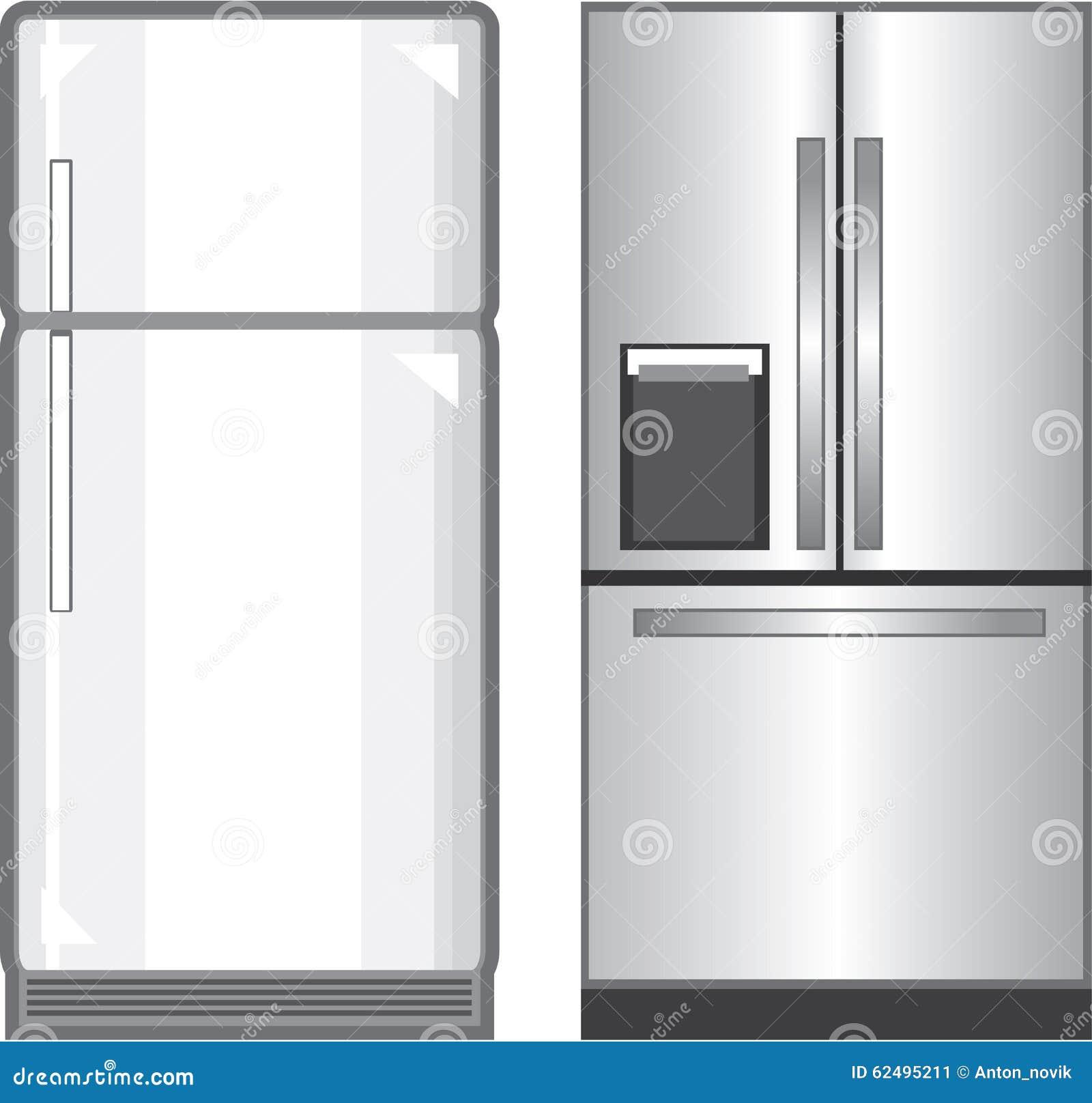 Messy Fridge: Messy Refrigerator Clip Art