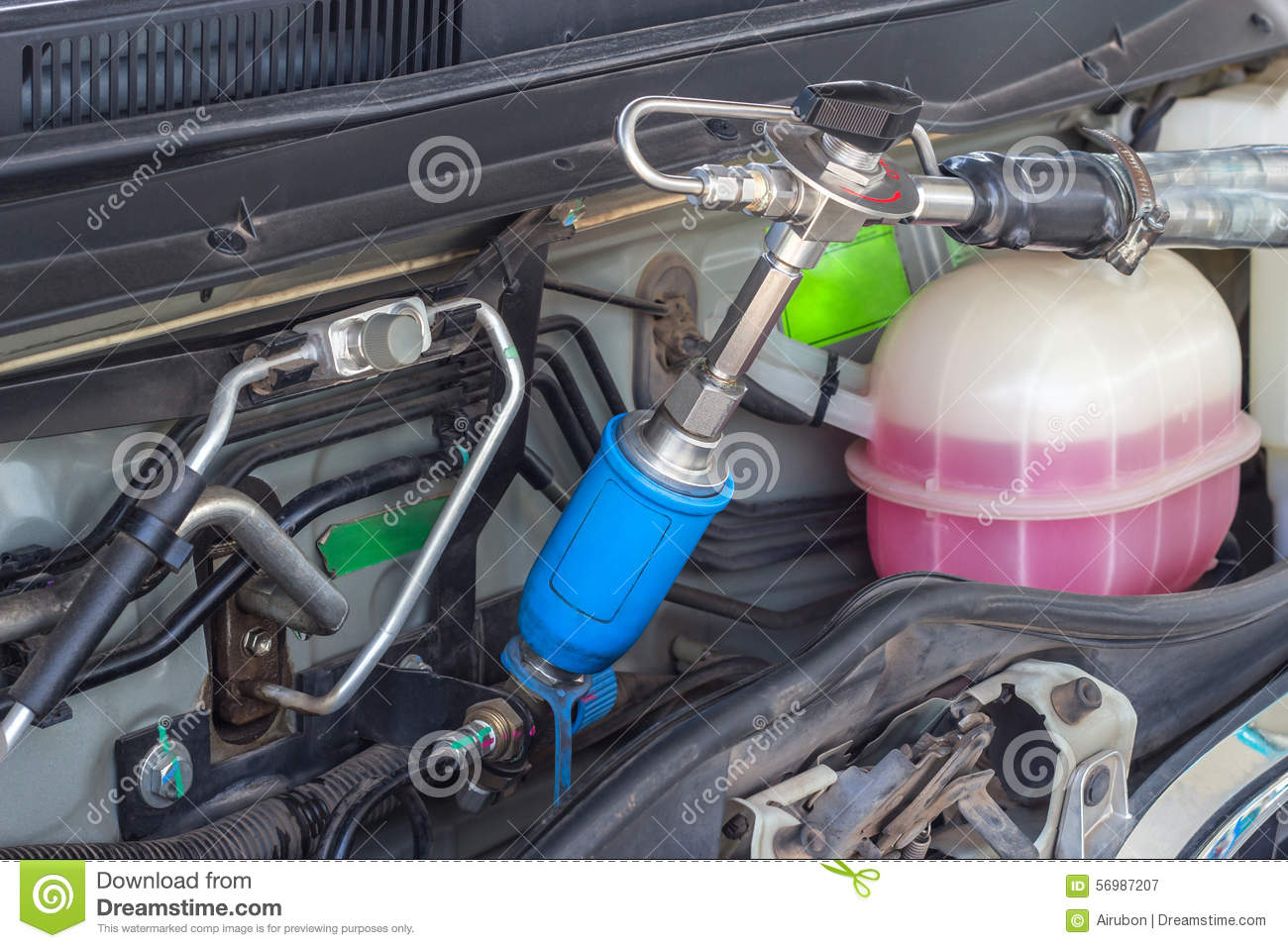 Refueling With Natural Gas Vehicle(NGV) For Car Stock