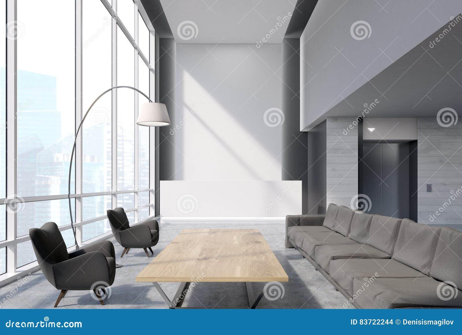 Refuge dans un bureau blanc illustration stock illustration du