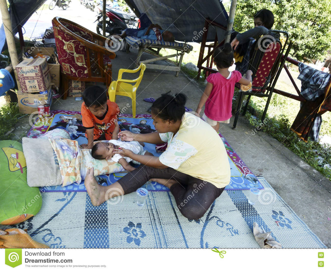 Refugees editorial photography  Image of indonesia, leisure
