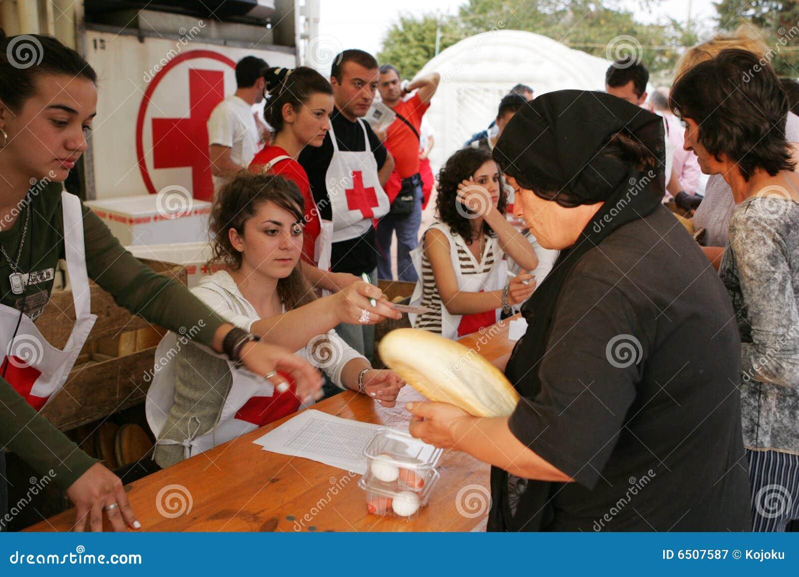 Refugiados georgianos en Gori