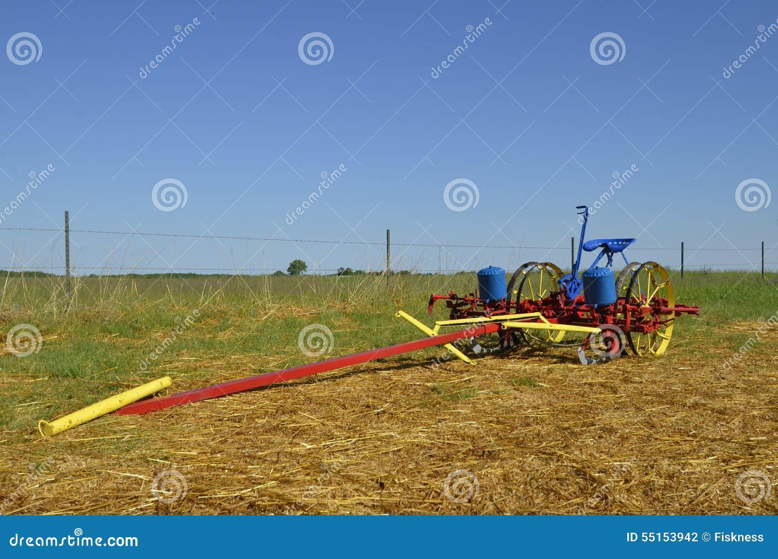 Refurbished Corn Planter Stock Photo Image Of Drawn 55153942