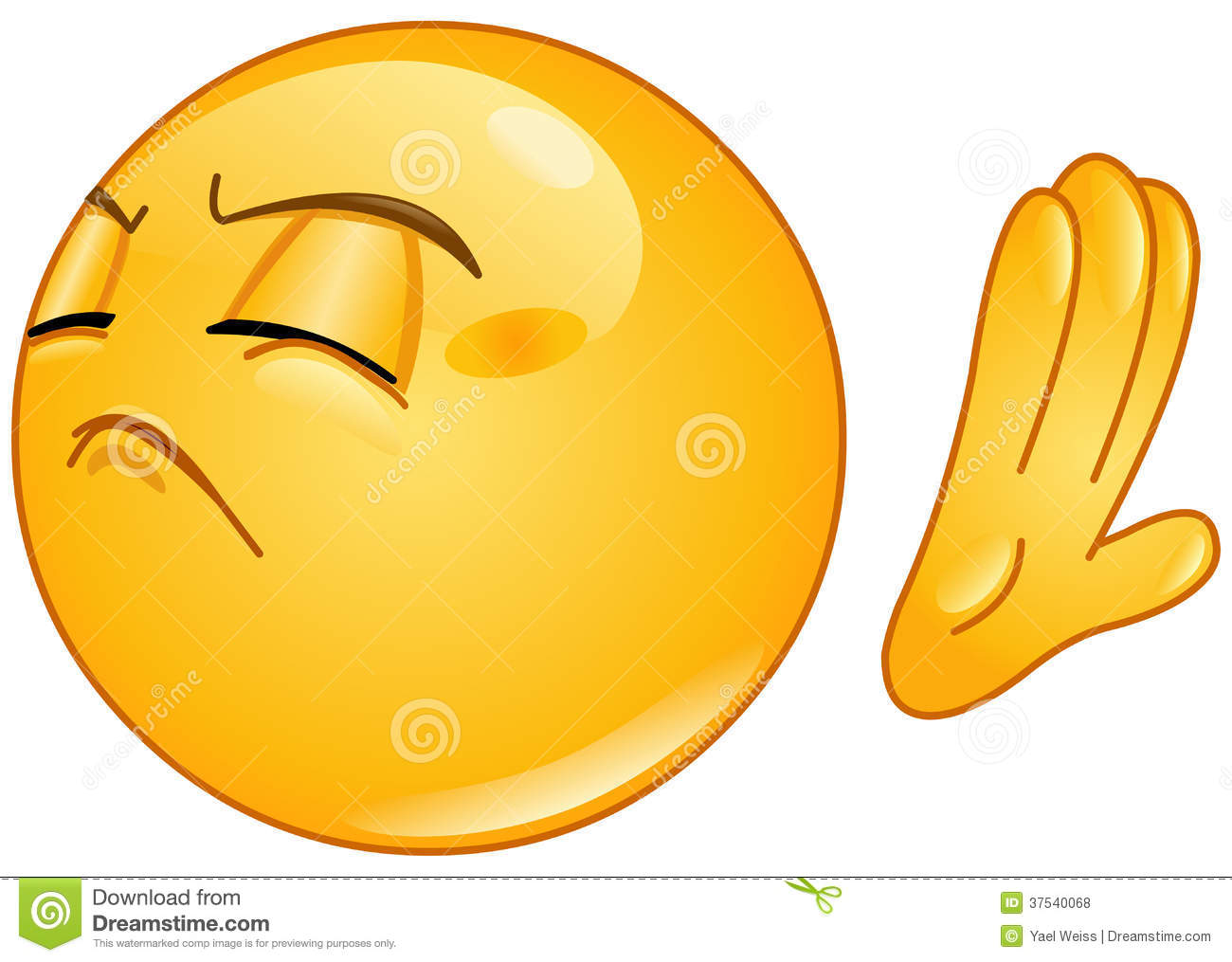 Sad Emoticon Wiping Tear Royalty Free Cliparts, Vectors, And Stock ...