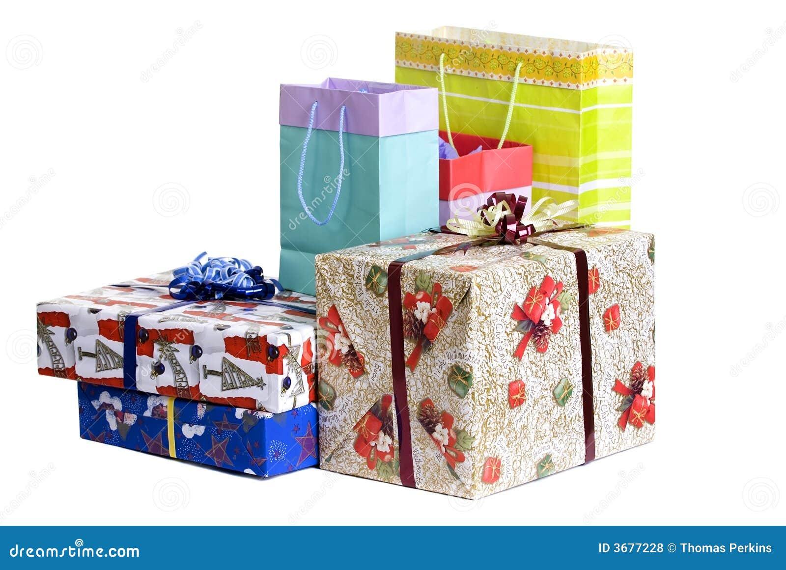 Download Regali di Natale fotografia stock. Immagine di segreto - 3677228