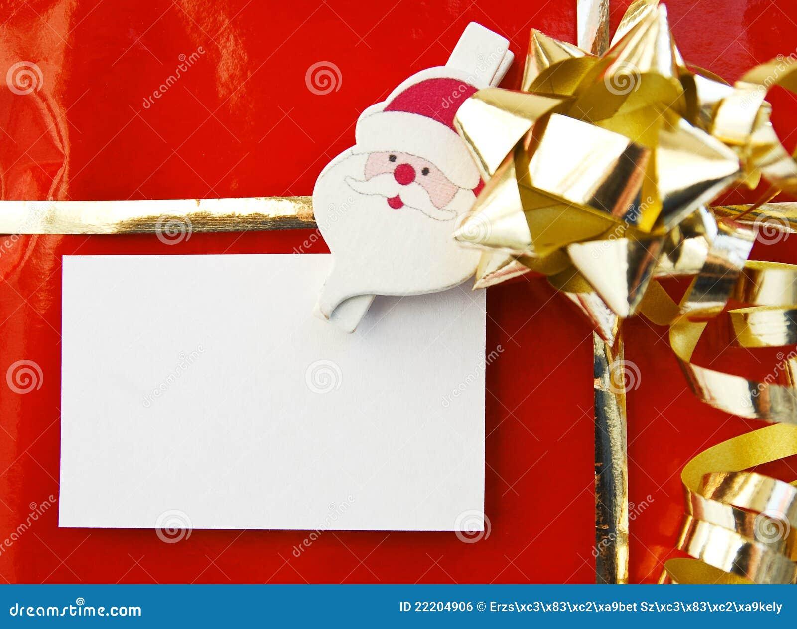 regalo de la navidad con la tarjeta vaca