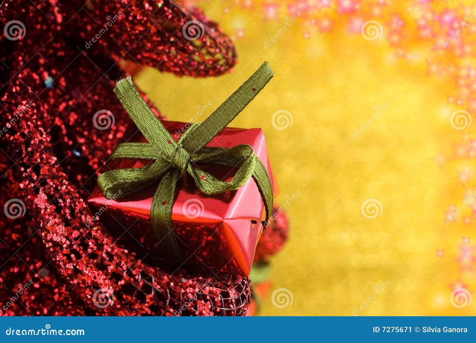 Regalo de Navidad con las estrellas que brillan