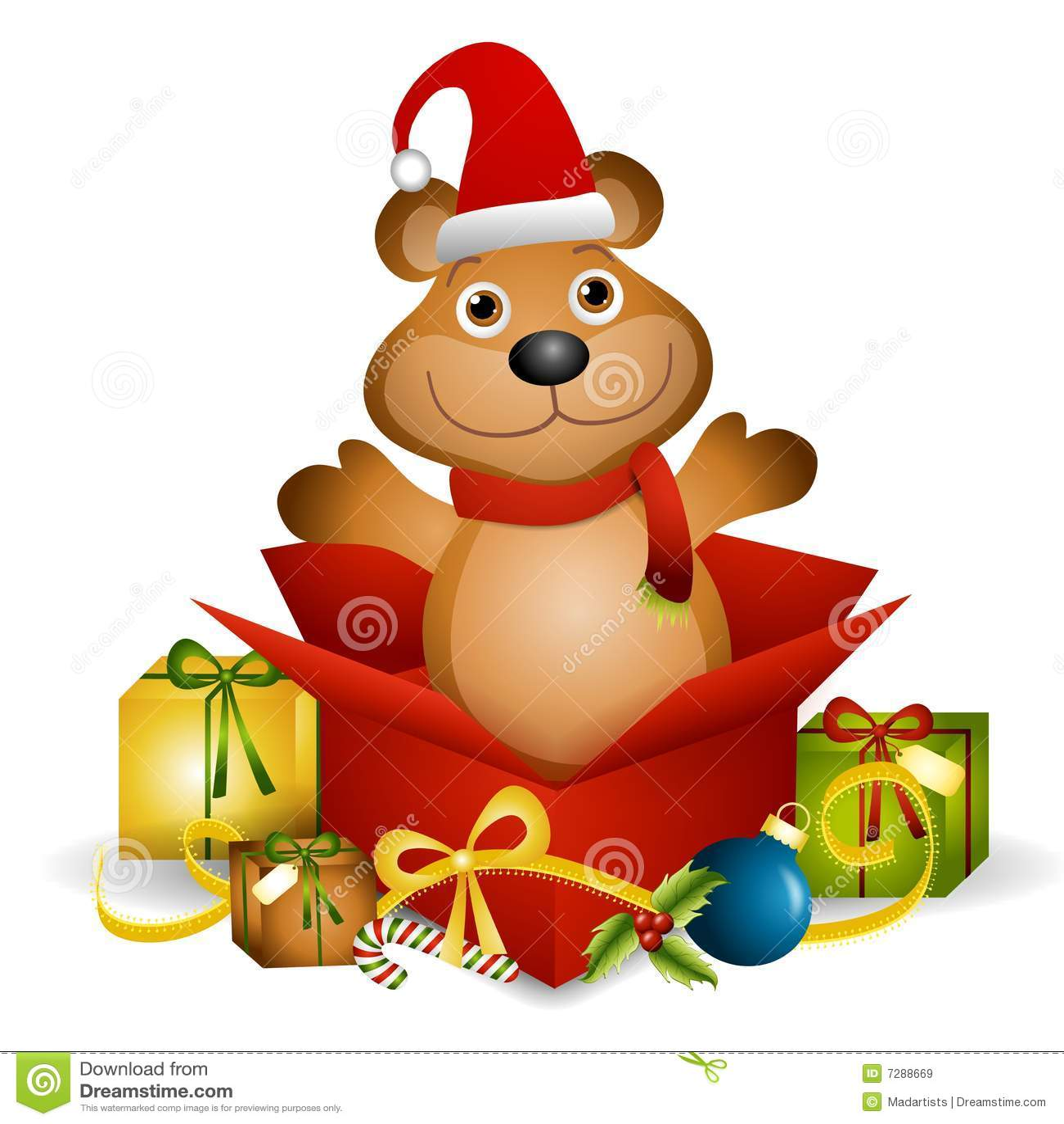 Regalo de Navidad del oso del peluche