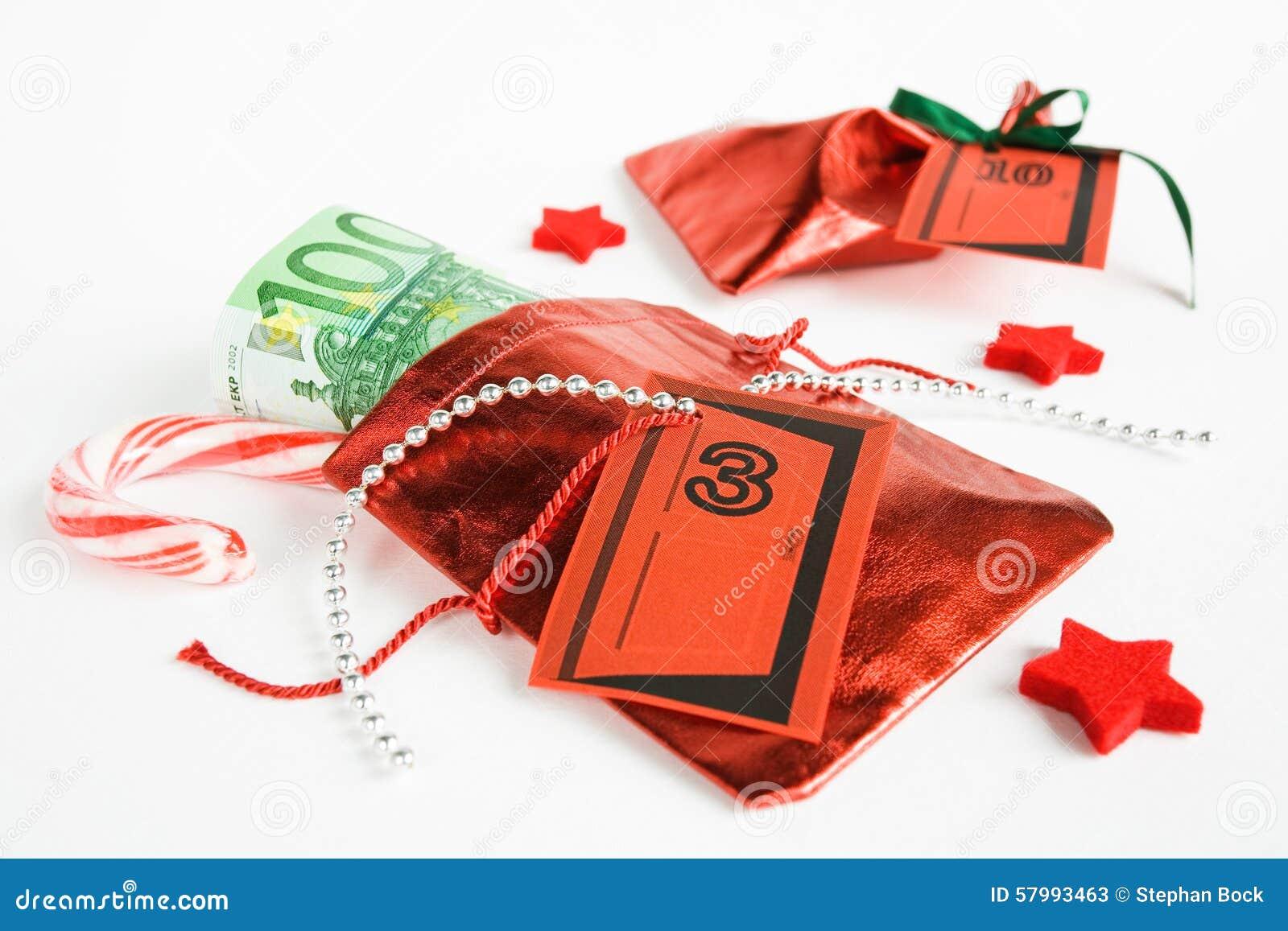 Calendario Di Borsa.Regalo Di Natale Calendario Di Arrivo Piccola Borsa Con