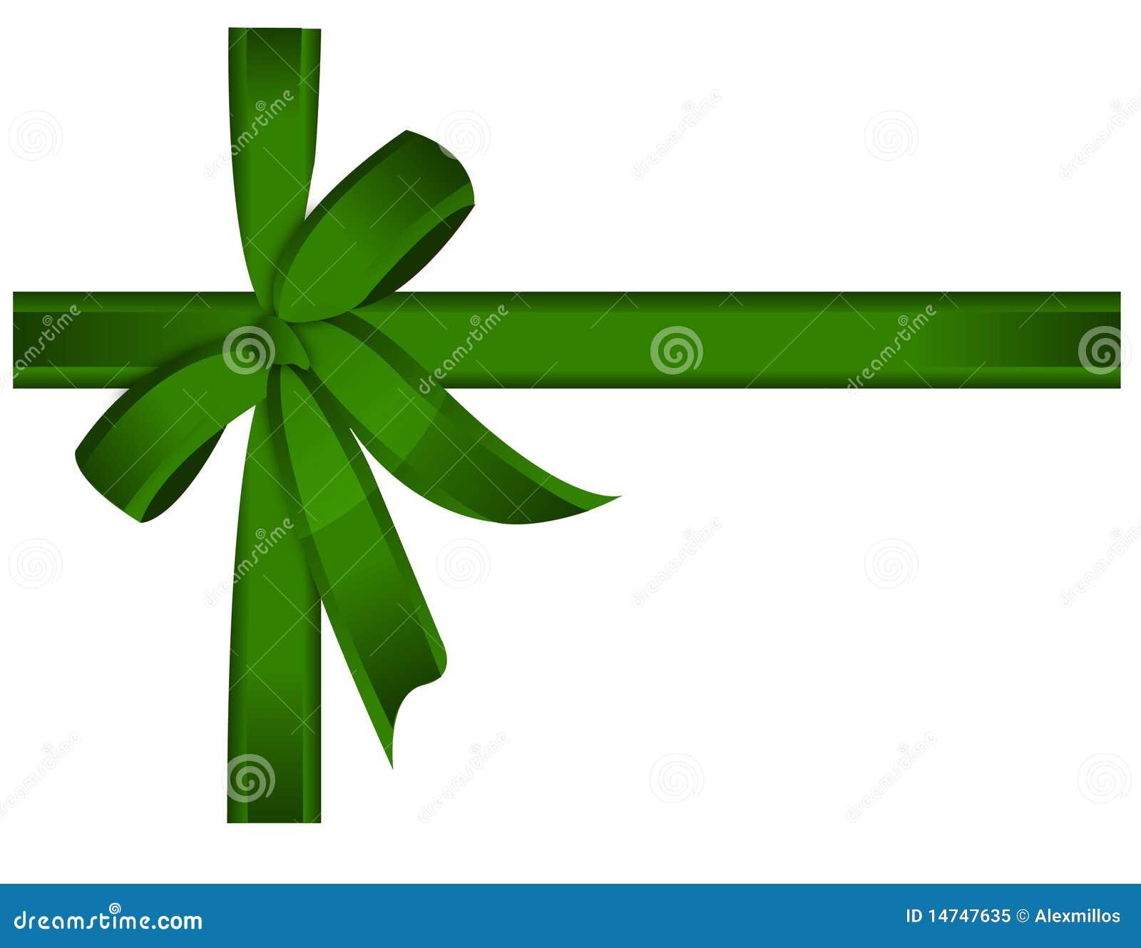 Regalo Verde Nastro Arcovettore Illustrazione Vettoriale