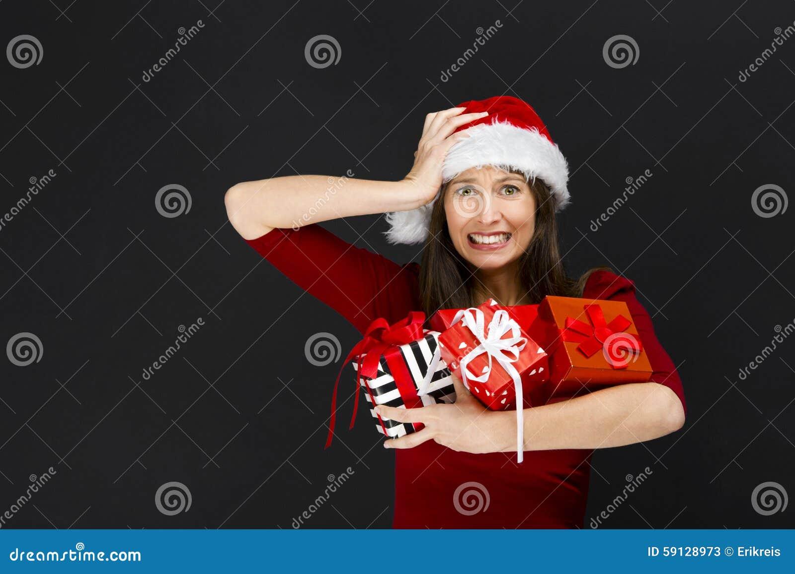Regalos de la Navidad de la explotación agrícola de la mujer