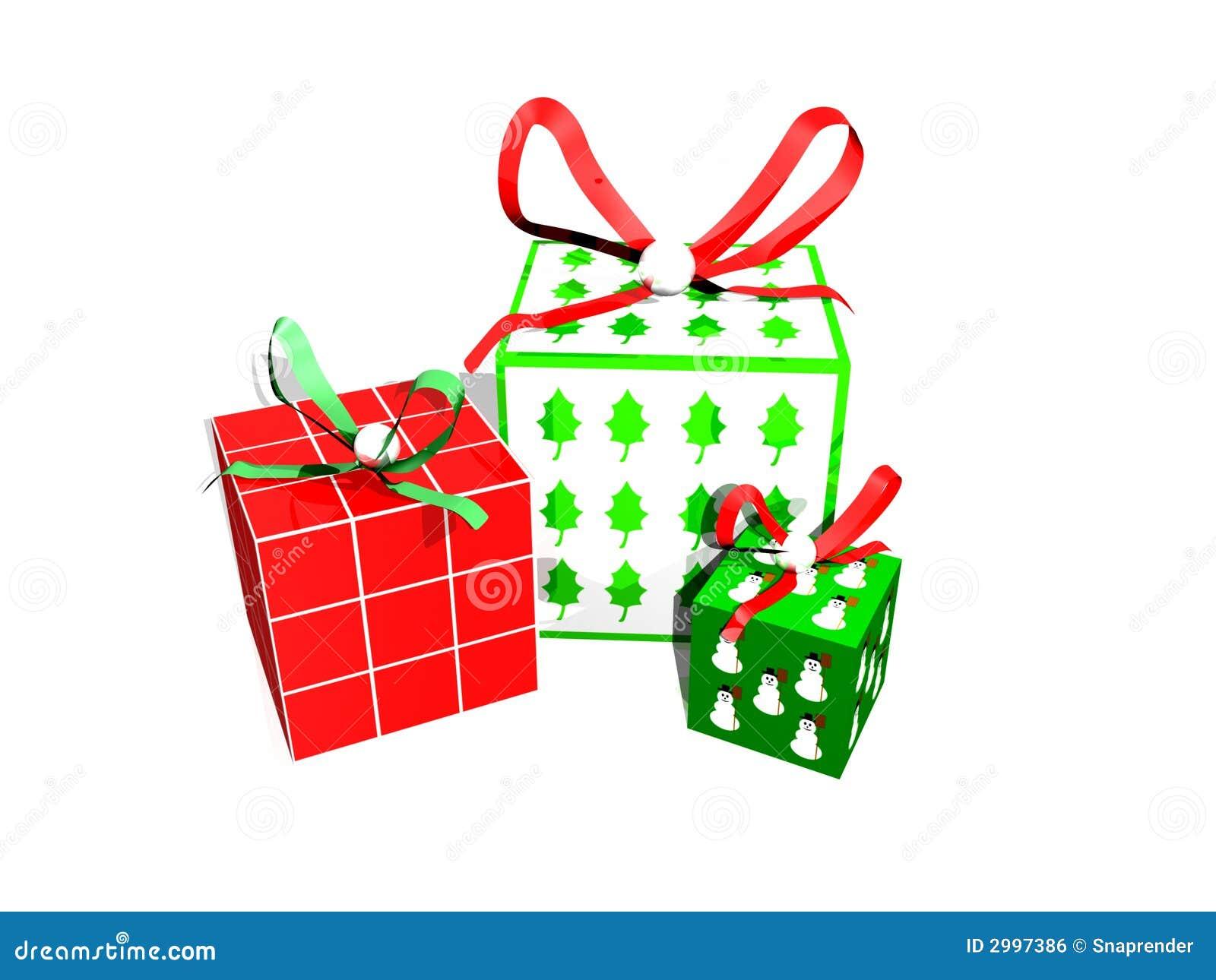 Regalos de navidad 3d imagen de archivo libre de regal as - Regalos padres navidad ...