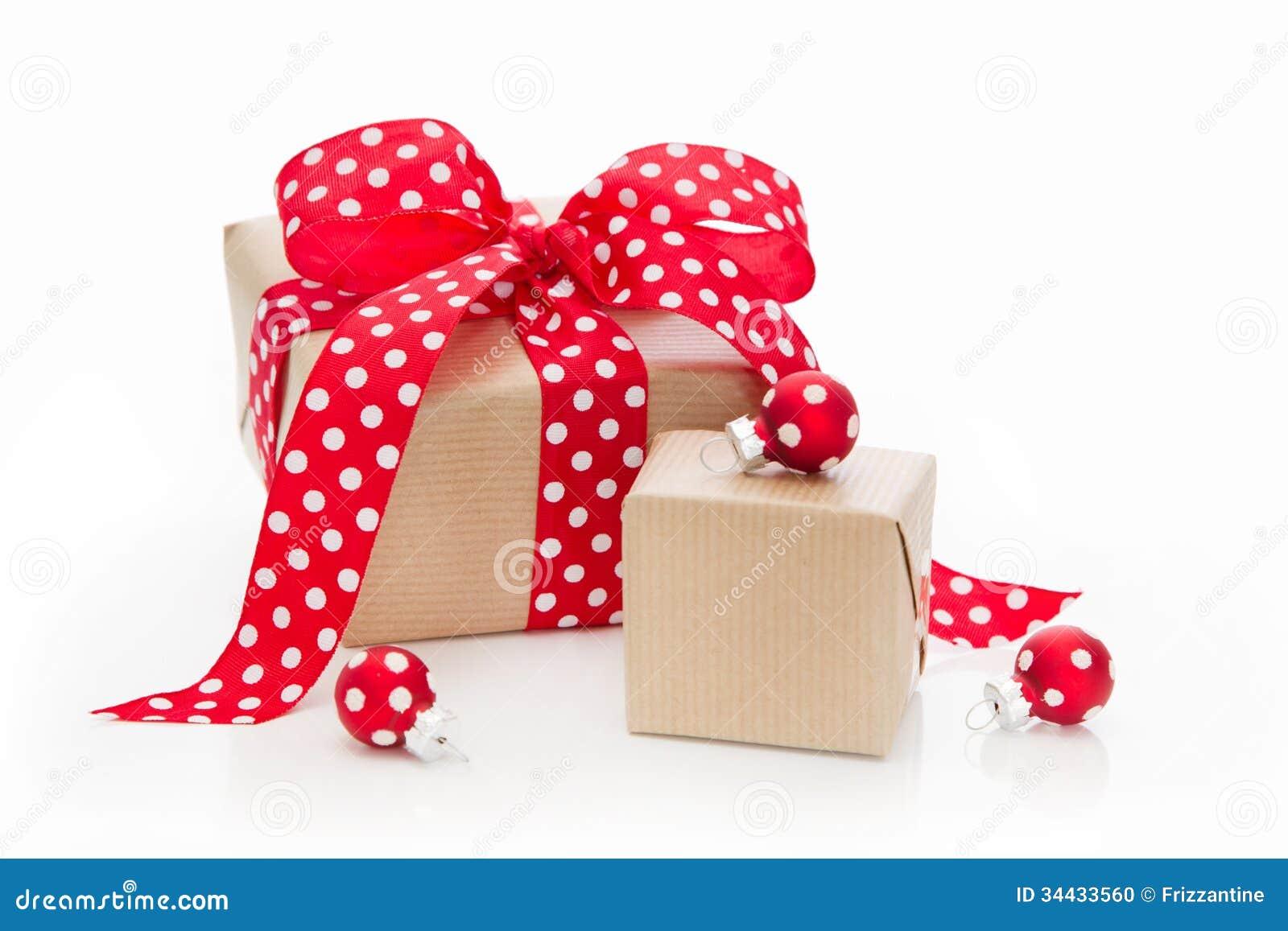 Regalos de navidad aislados envueltos en papel con los - Papel de regalo navidad ...