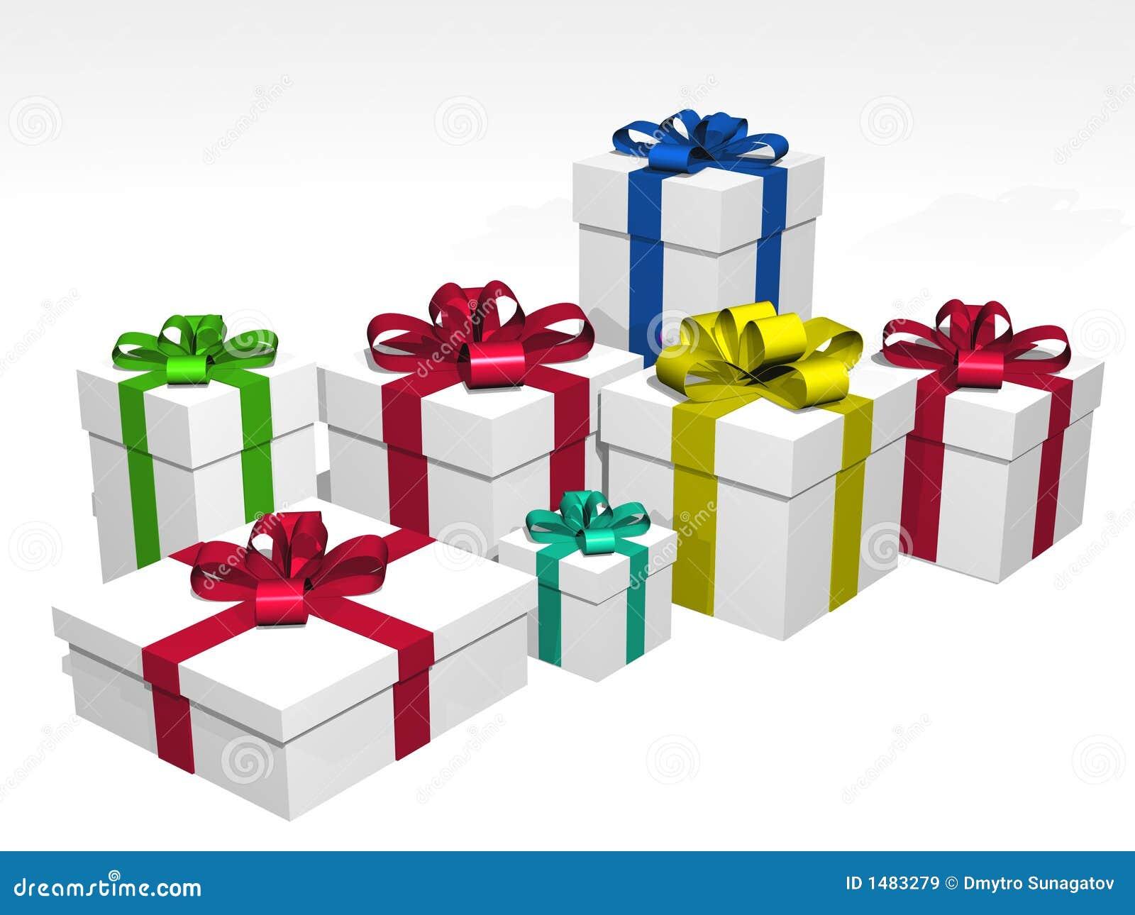 regalos en 3d sobre un fondo blanco stock de ilustraci n ilustraci n de regalos elasticidad. Black Bedroom Furniture Sets. Home Design Ideas