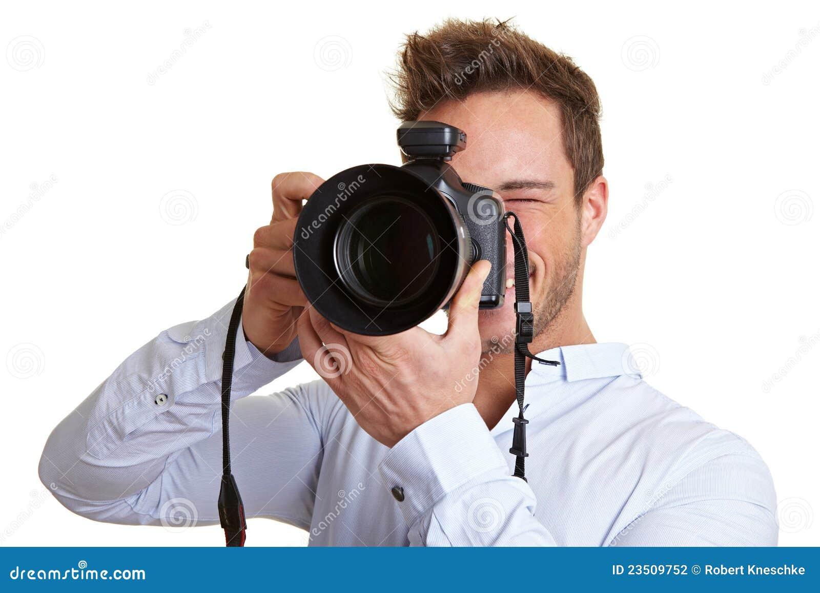 regard professionnel de photographe photo stock image 23509752. Black Bedroom Furniture Sets. Home Design Ideas