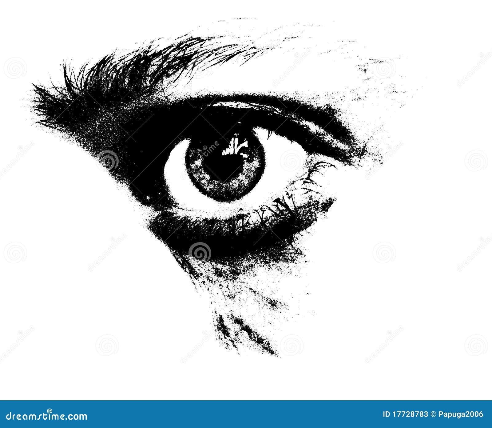 Regard triste photos stock image 17728783 - Dessin ange noir et blanc ...