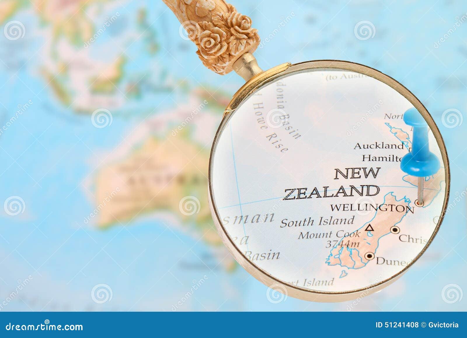 Regardant dedans sur Wellington, Nouvelle-Zélande