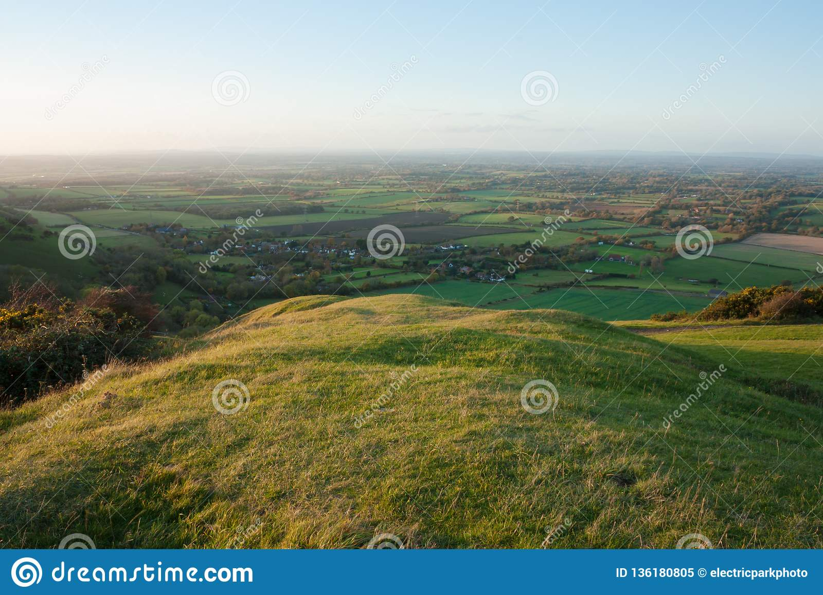 Regardant du nord des bas du sud, Fulking, East Sussex, R-U