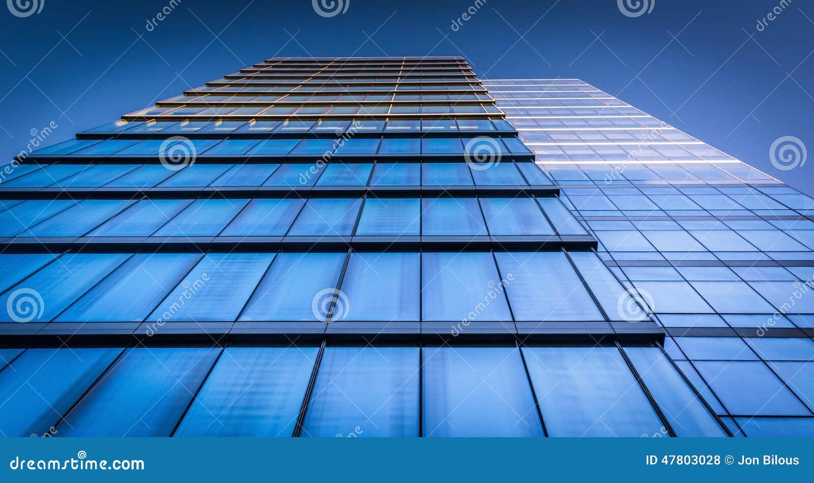 Regardant l édifice bancaire de WSFS à Wilmington du centre, Del