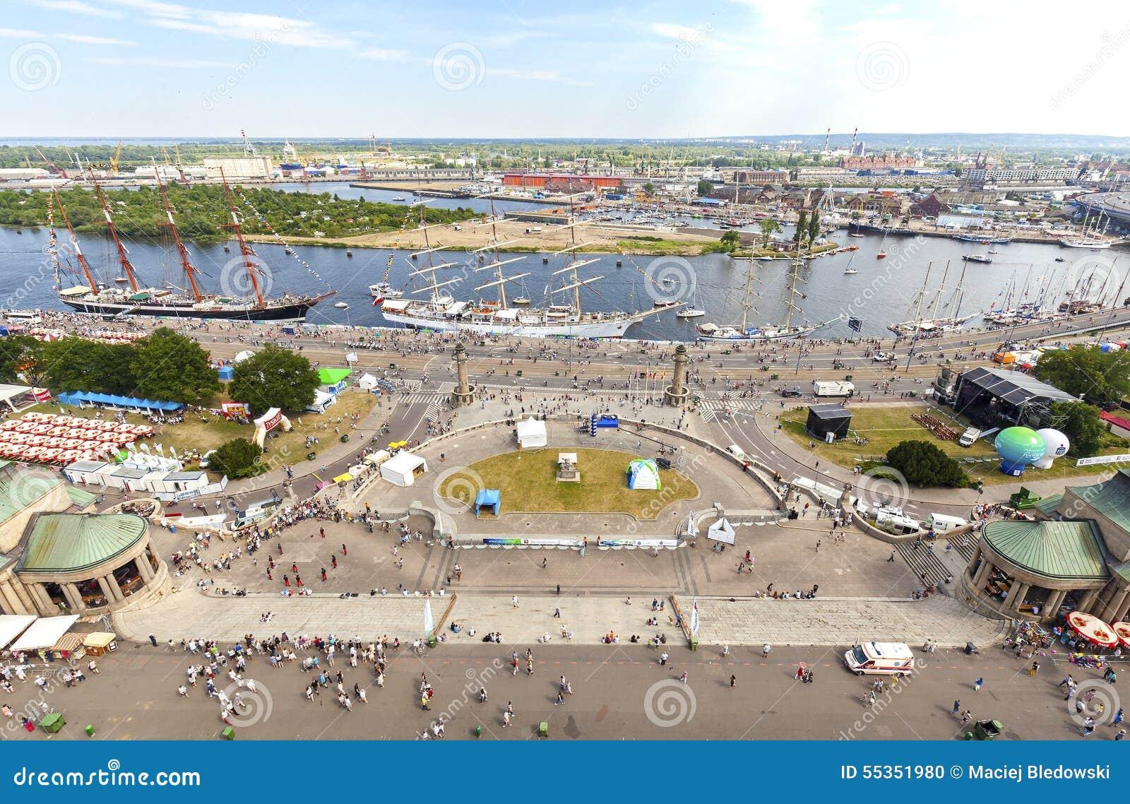 Regata alta 2015 delle navi finale in Szczecin