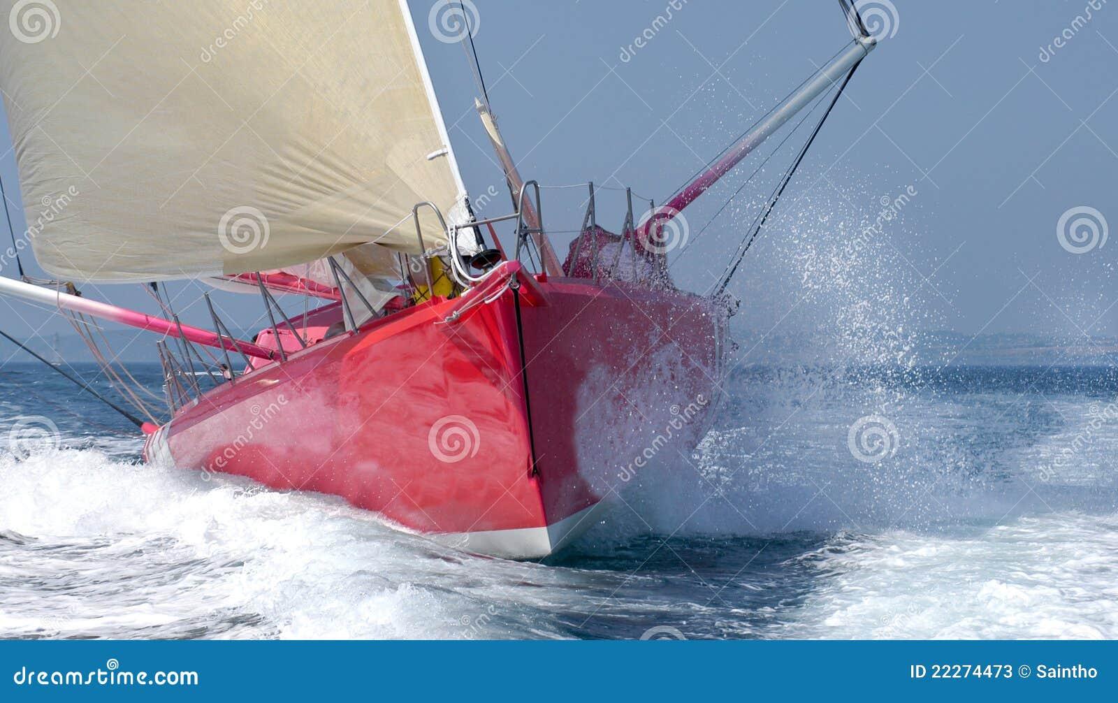 Regatta frontowy jacht