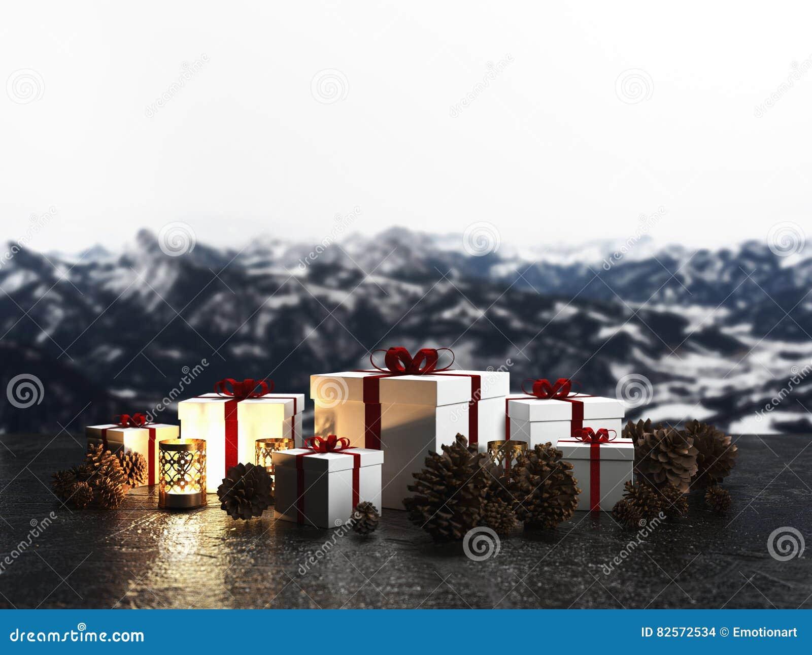Regeling van Kerstmisgiften door kaarslicht