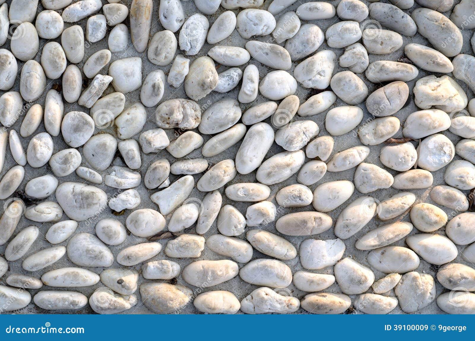 Regelmatig patroon van gecementeerde natuurstenen