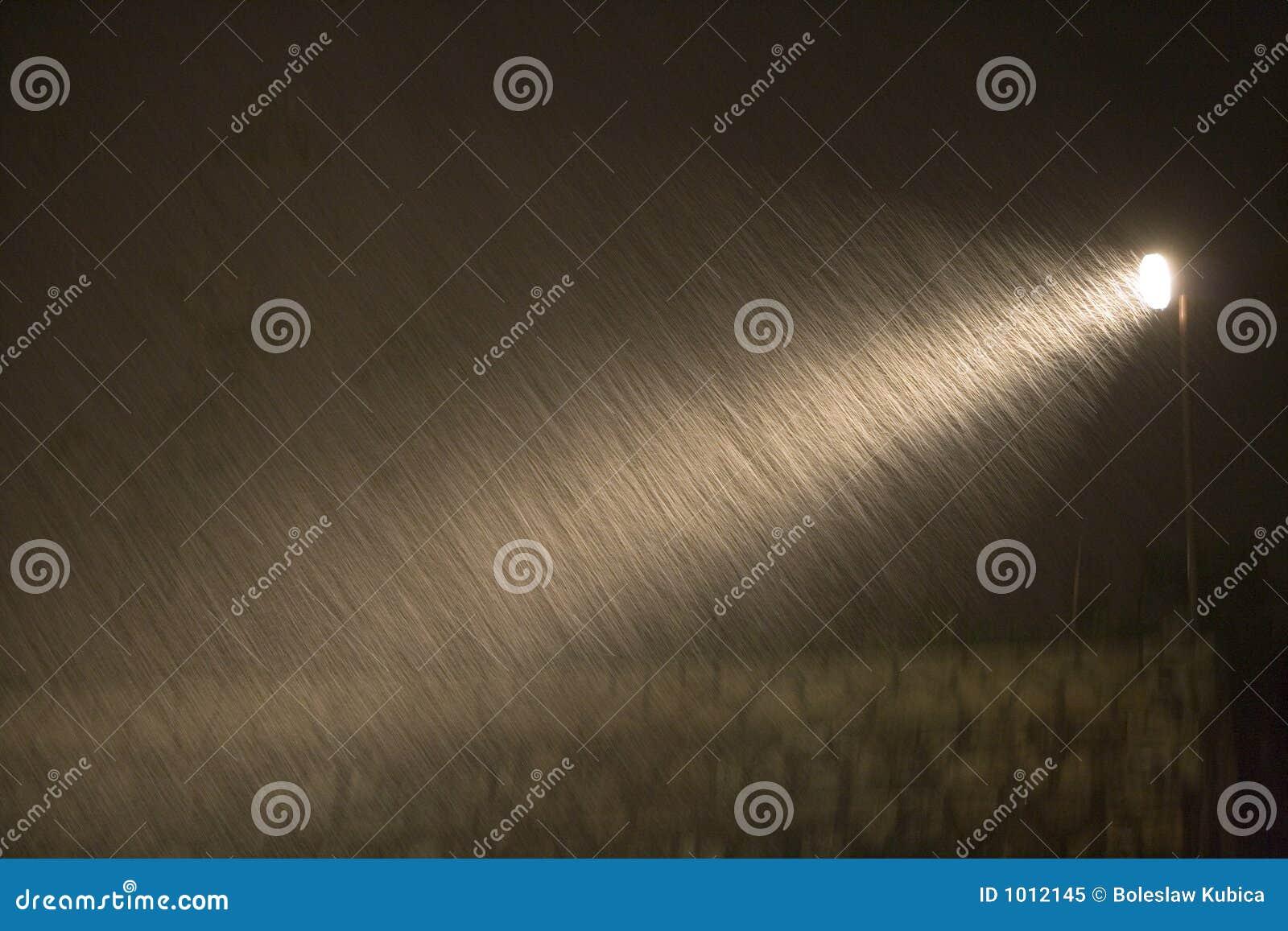 Regen während der Nacht