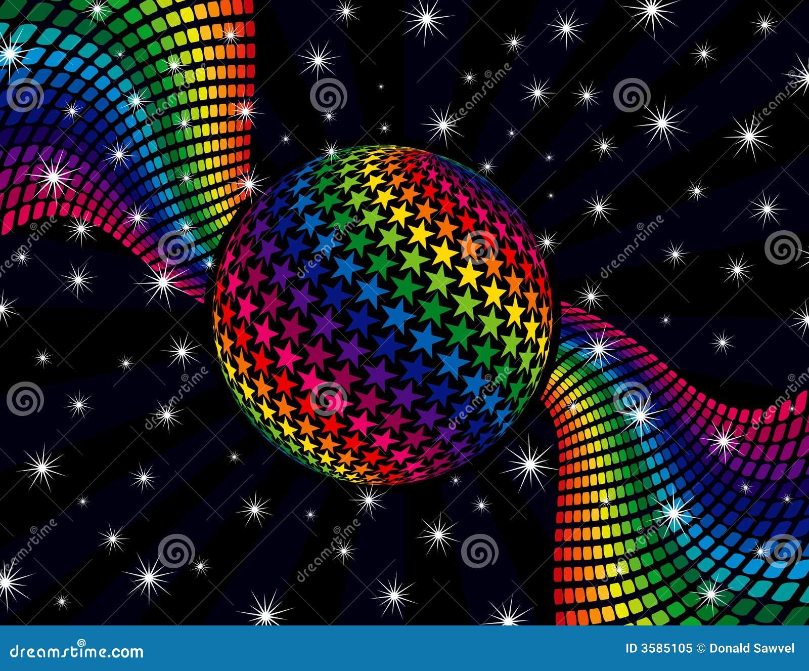 Regenbogen Disco Hintergrund Lizenzfreies Stockfoto Bild