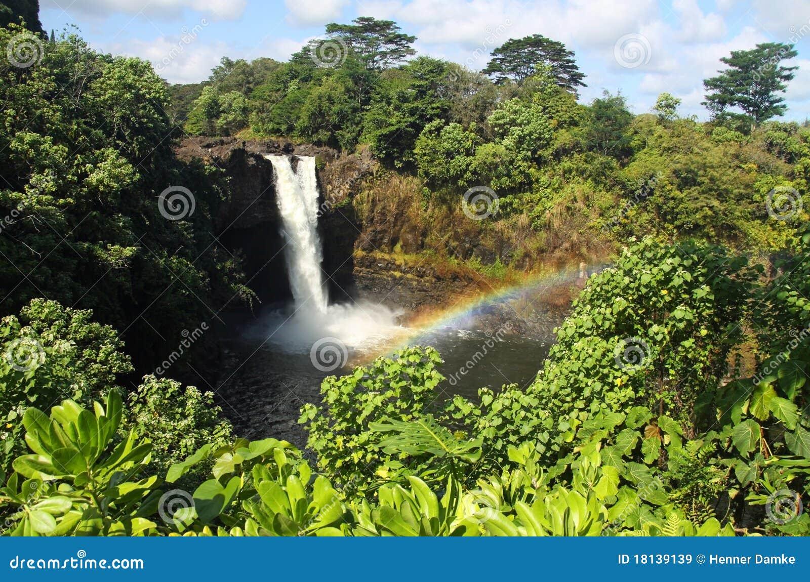 Regenbogen-Fälle (große Insel, Hawaii) 02