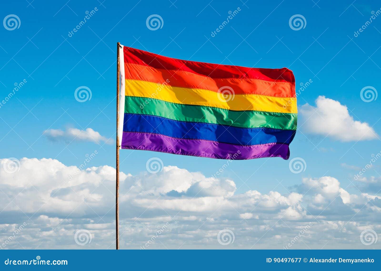 Regenbogen homosexuelles Pride Flag, Miami Beach, Florida