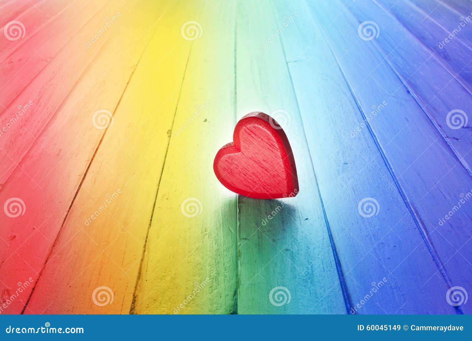 Regenbogen-Liebes-Herz-Hintergrund