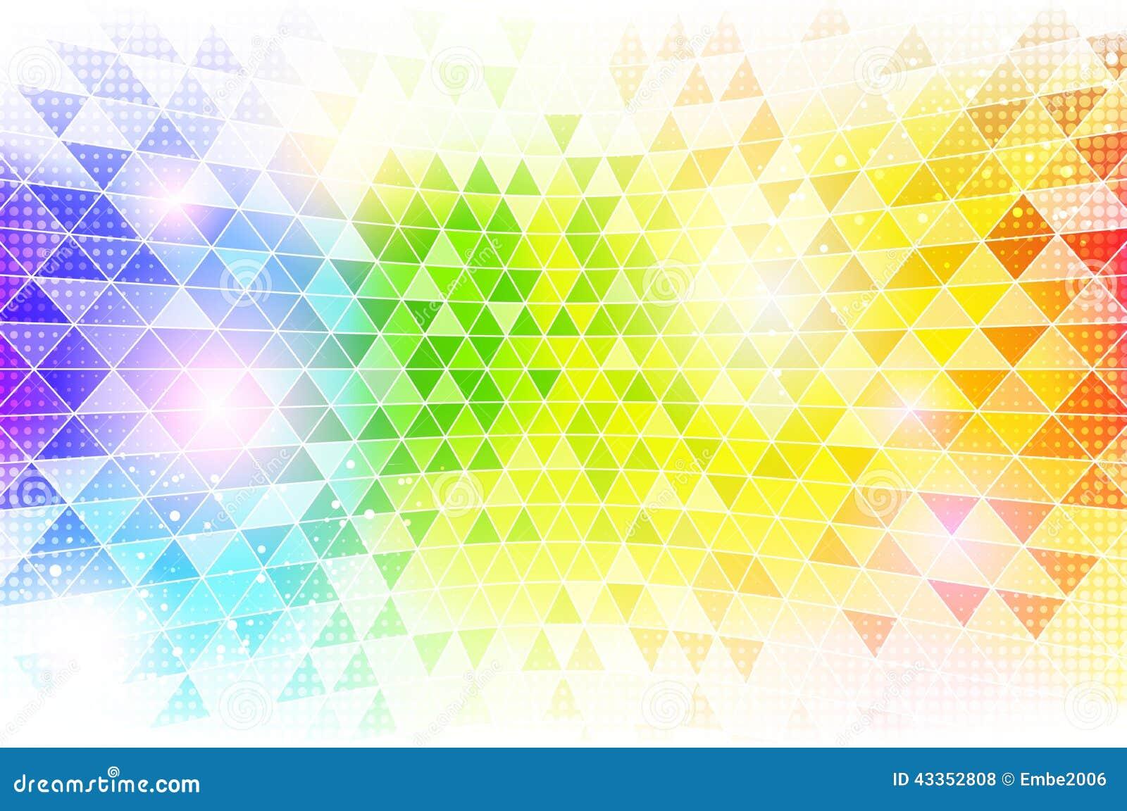 Regenbogen-Mosaik-Hintergrund-Beschaffenheit