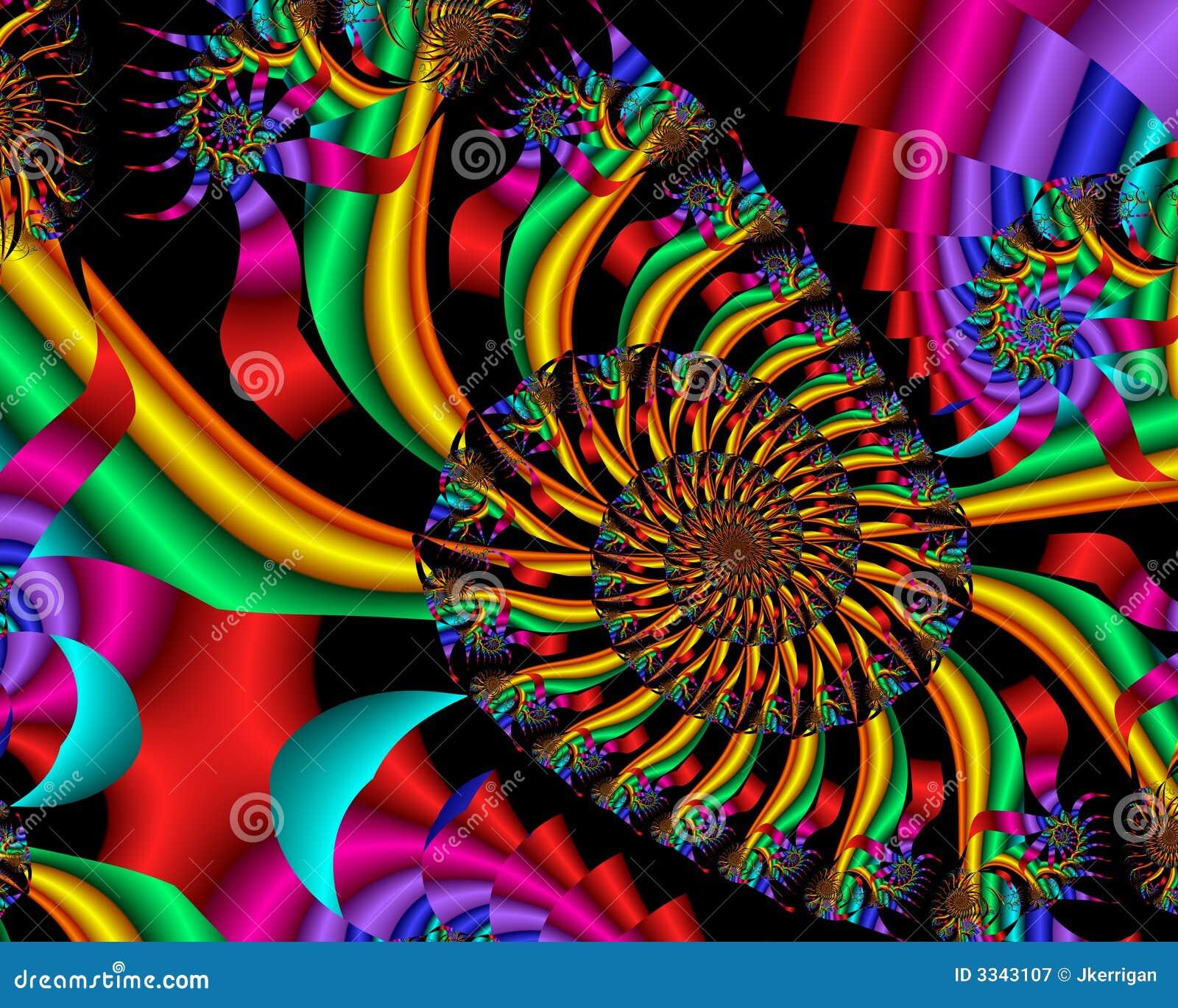 Regenbogen-Spirale