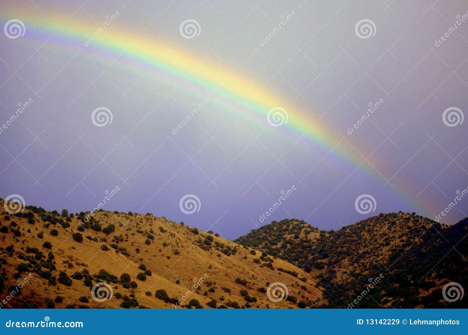 Regenbogen-und Wüsten-Hügel