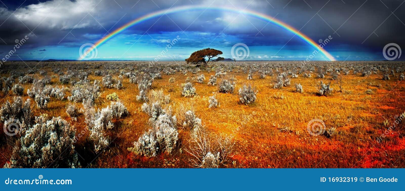 Regenbogen-Wüste