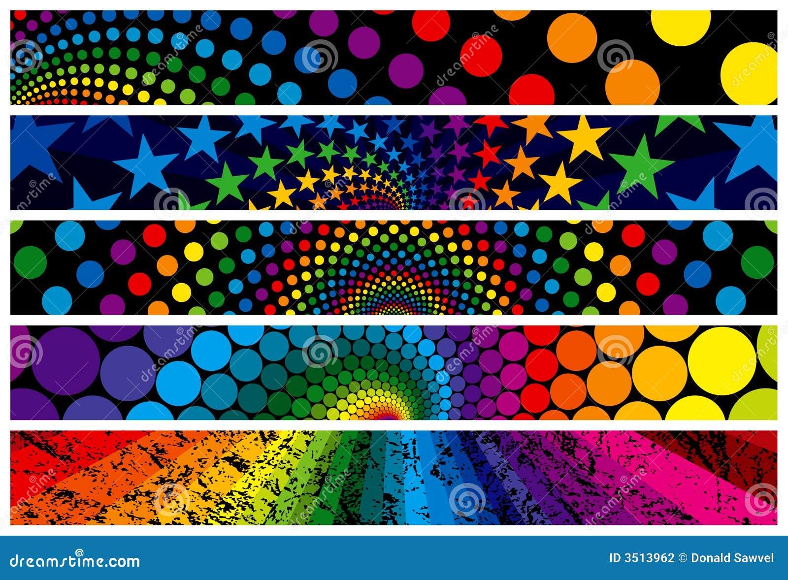 Regenbogen-Web-Fahnen