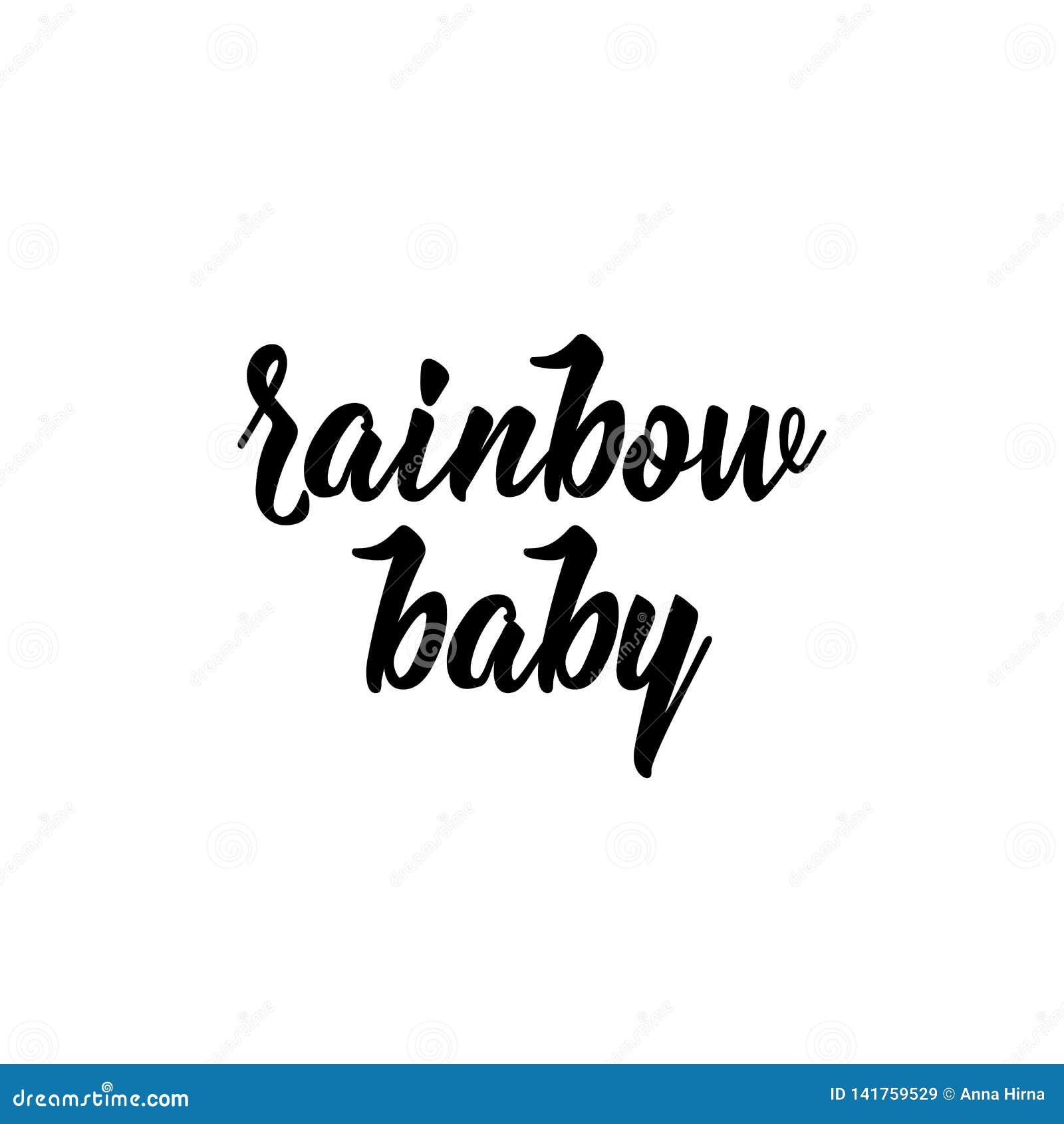 Regenbogenbaby Auch im corel abgehobenen Betrag beschriftung Tintenillustration