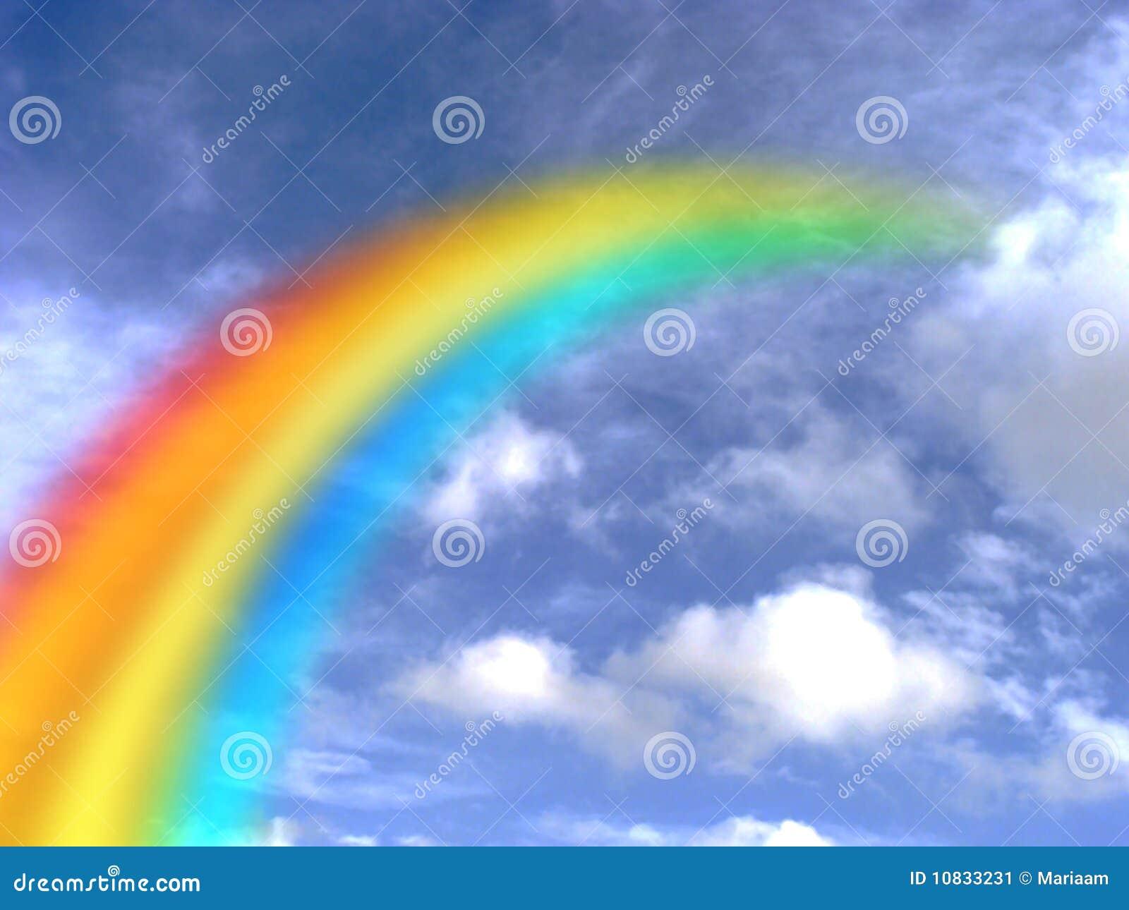 Stock afbeelding: regenboog in de hemel