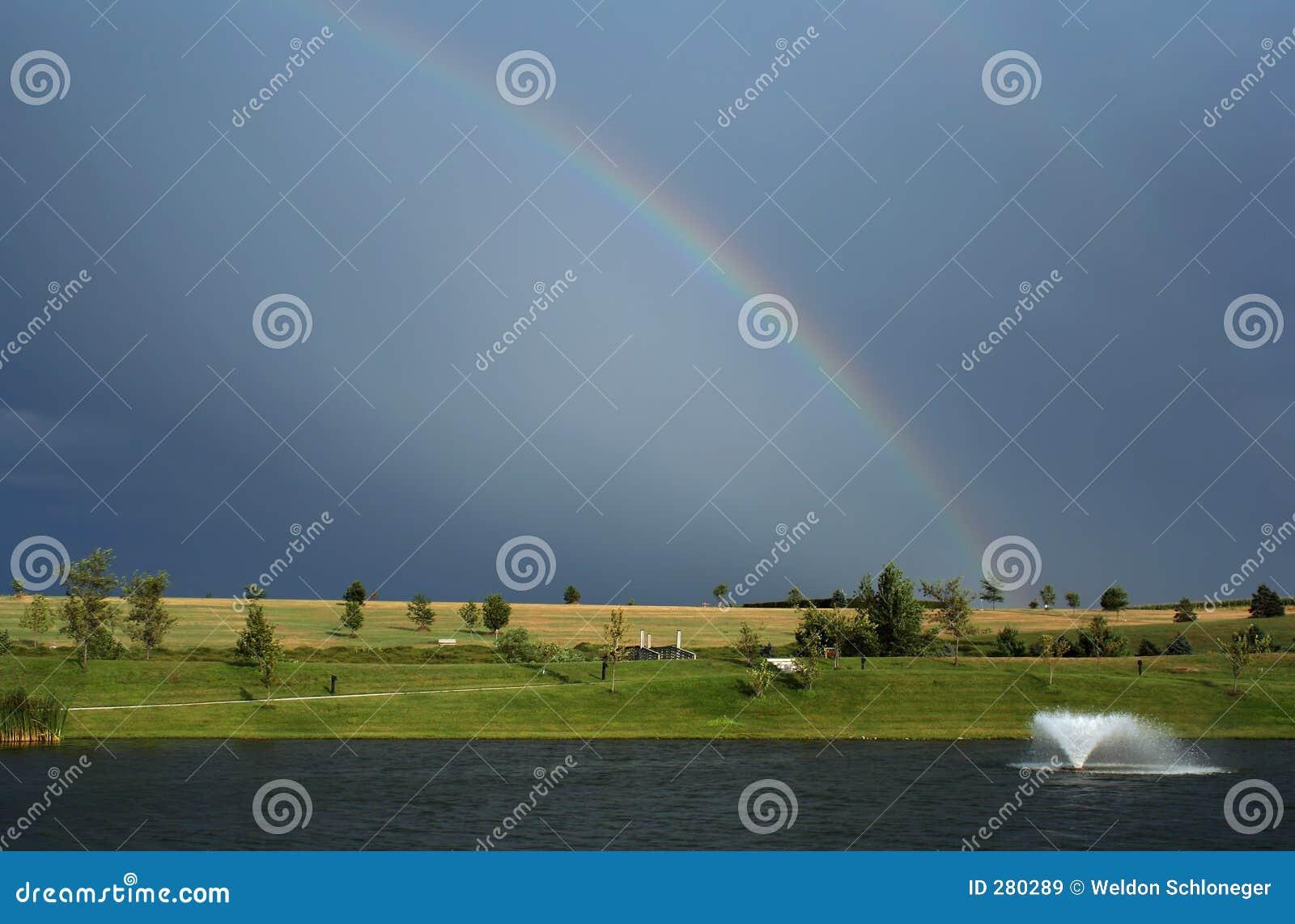 Regenboog en Fontein