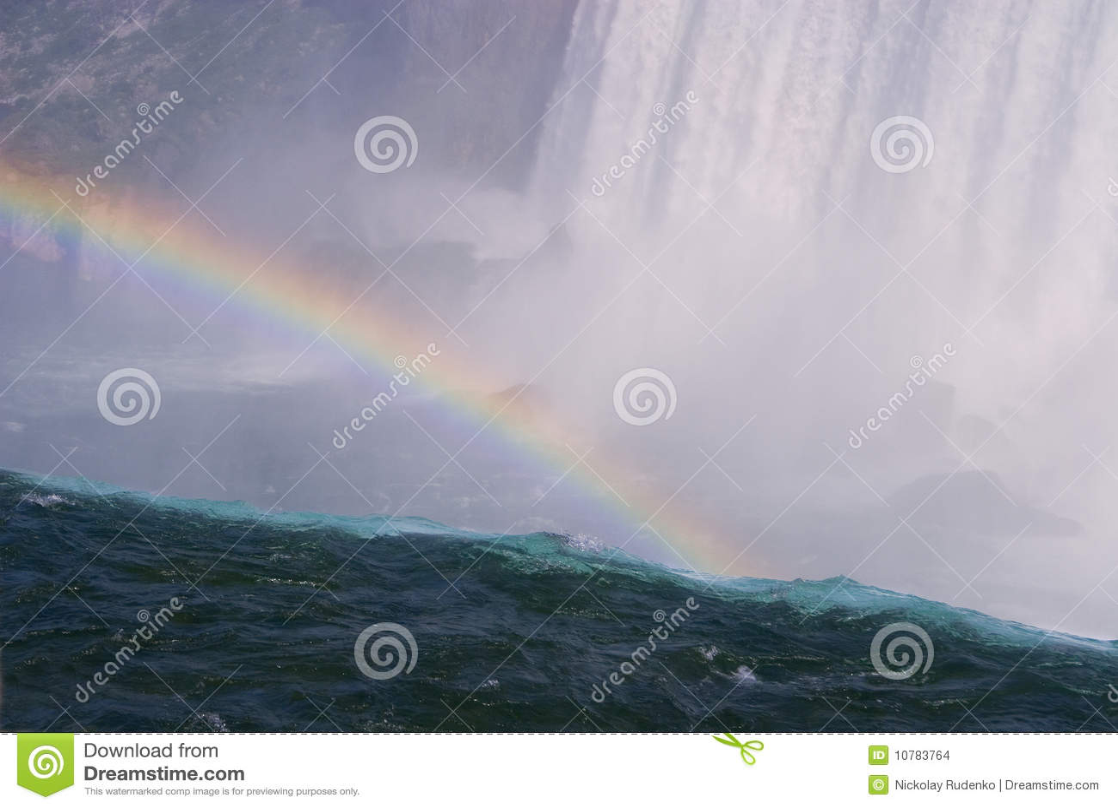 Regenboog over Niagara Falls