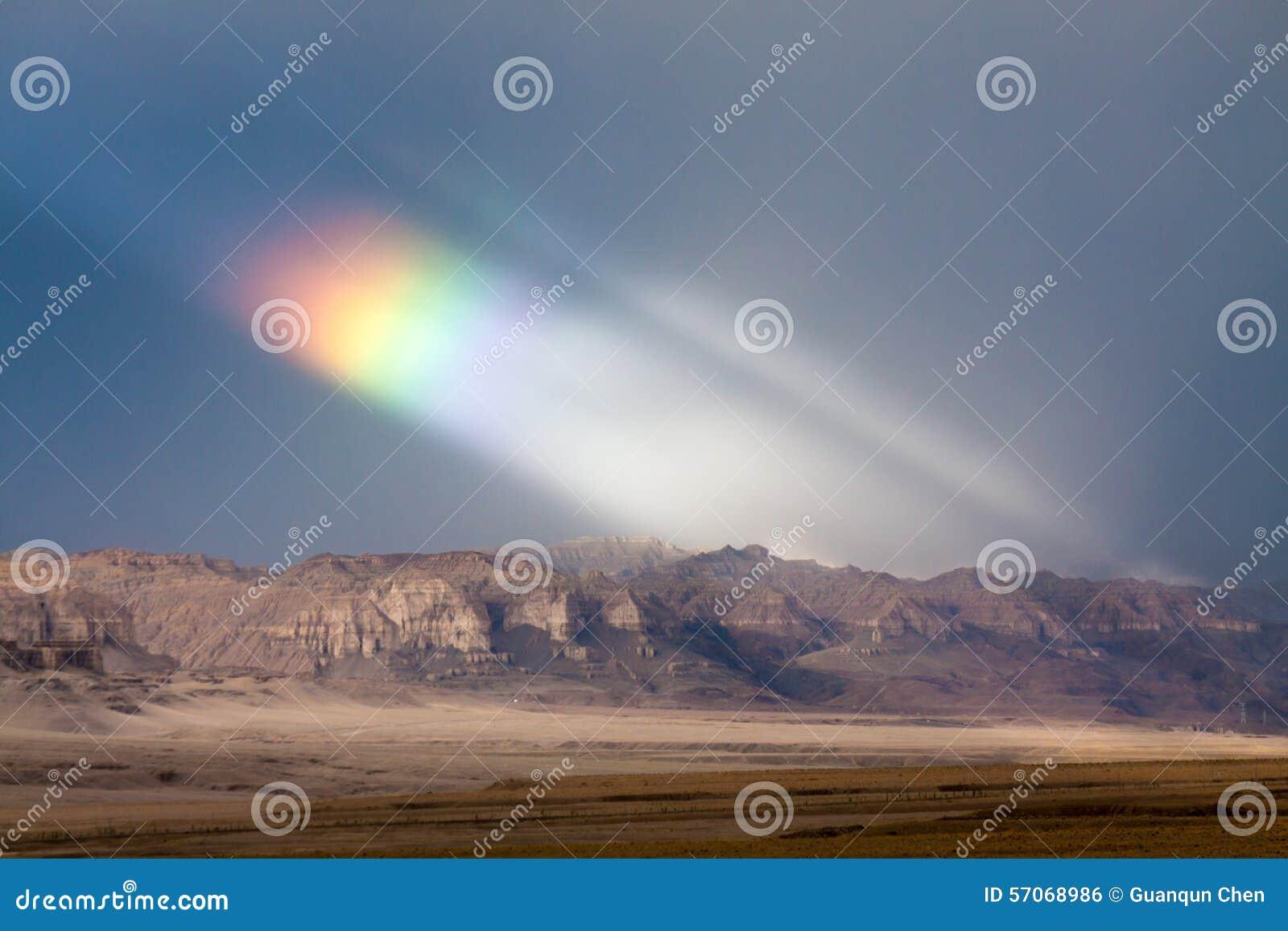 Regenboog in Tibet