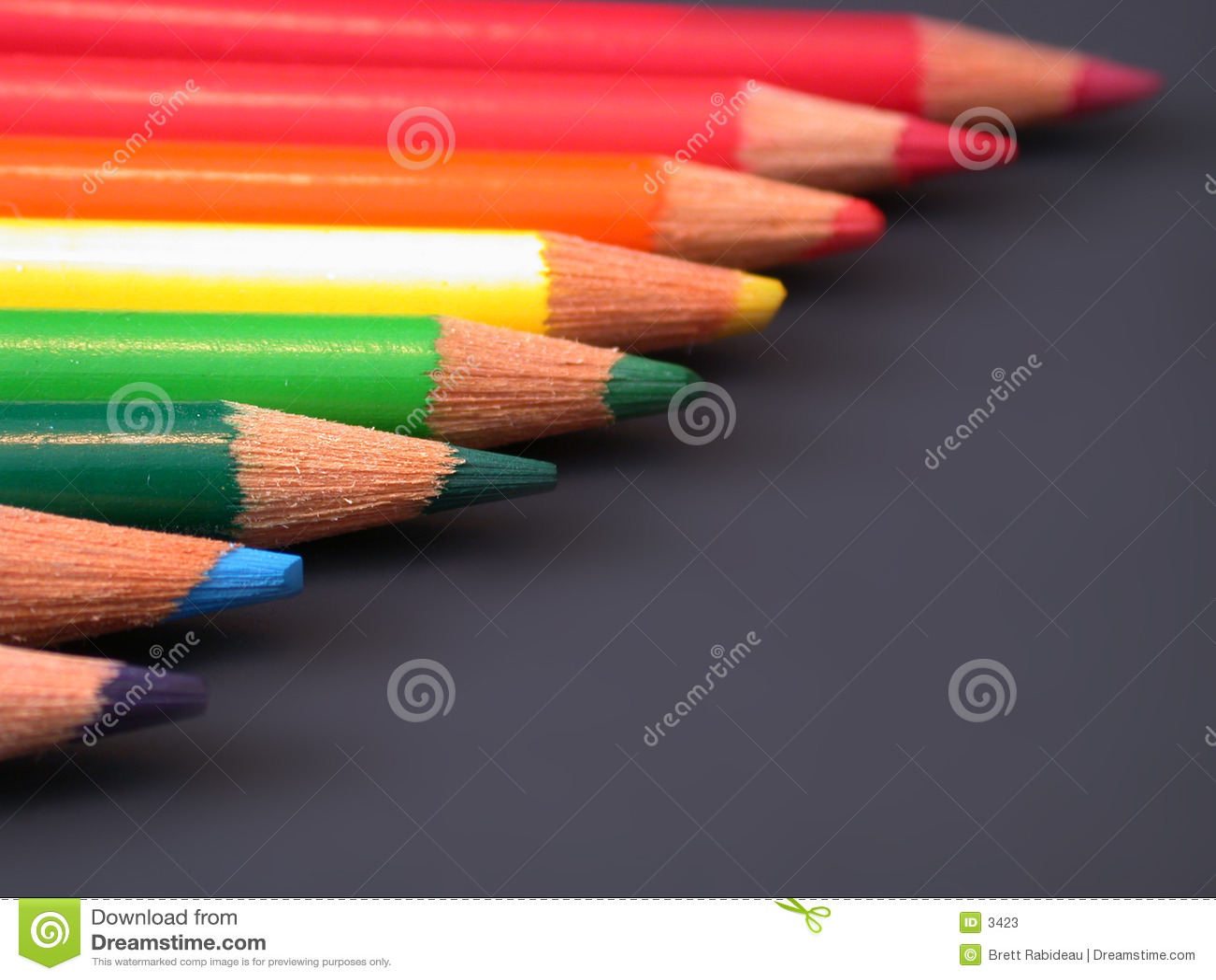 Regenboog van kleurpotloden
