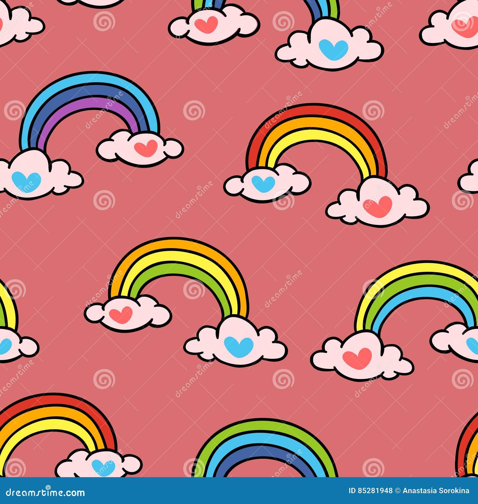 Regenboog Vector naadloos patroon