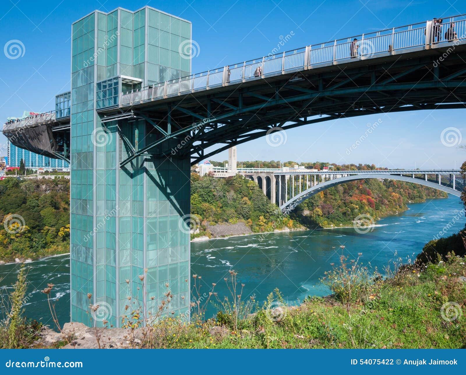 Regenboogbrug bij Niagara-Dalingen, de V.S.