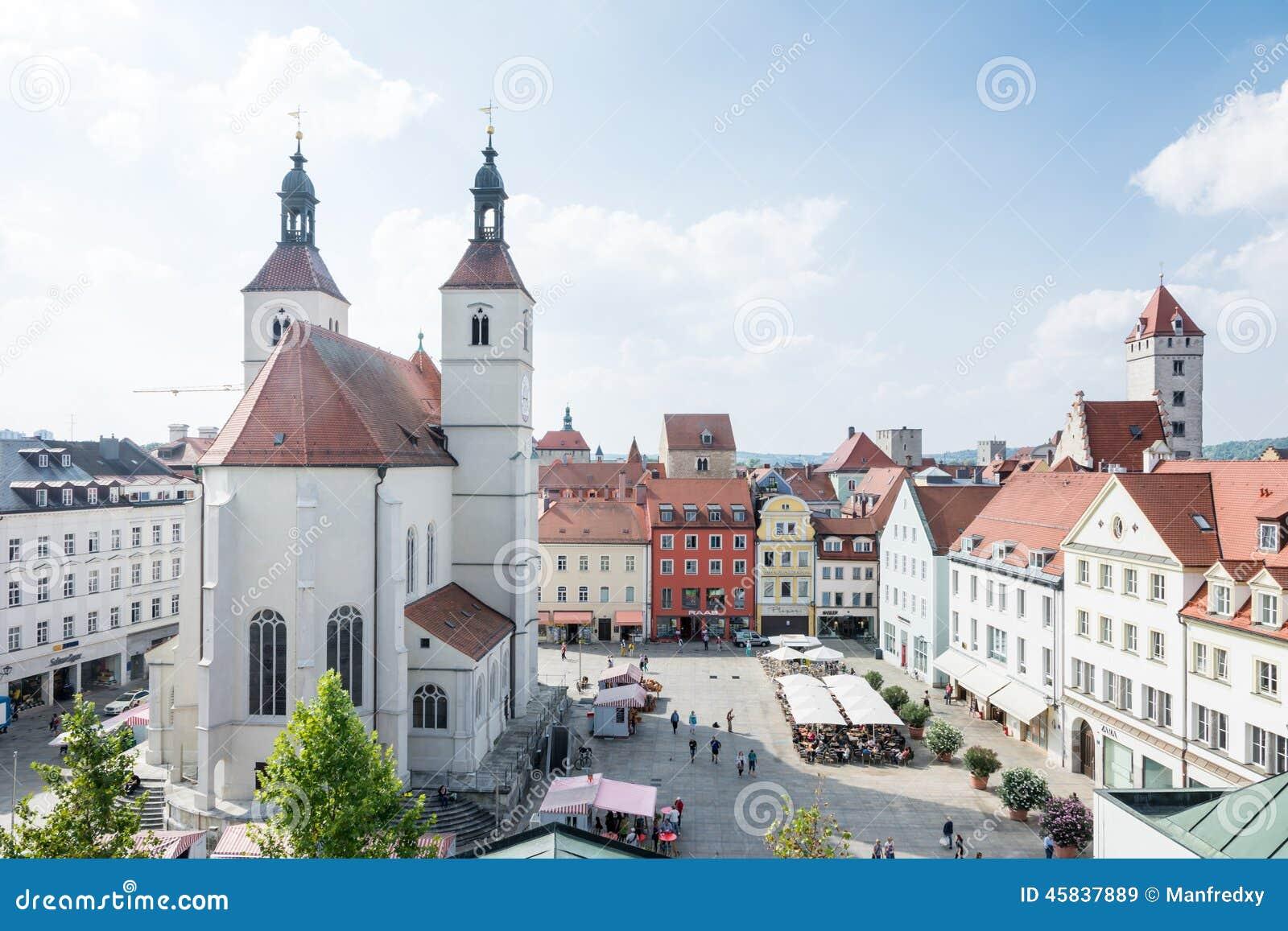 Regensburg City Editorial Stock Image Image 45837889
