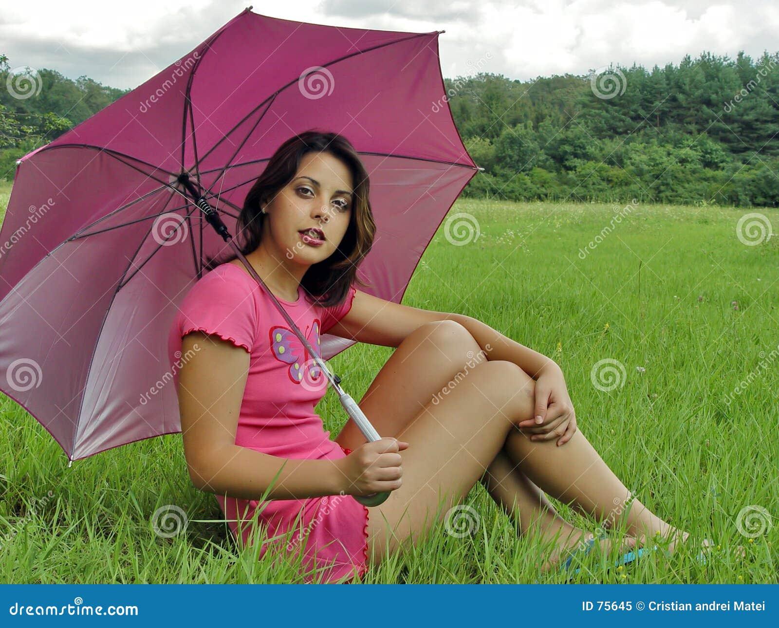 Regenschirmmädchen