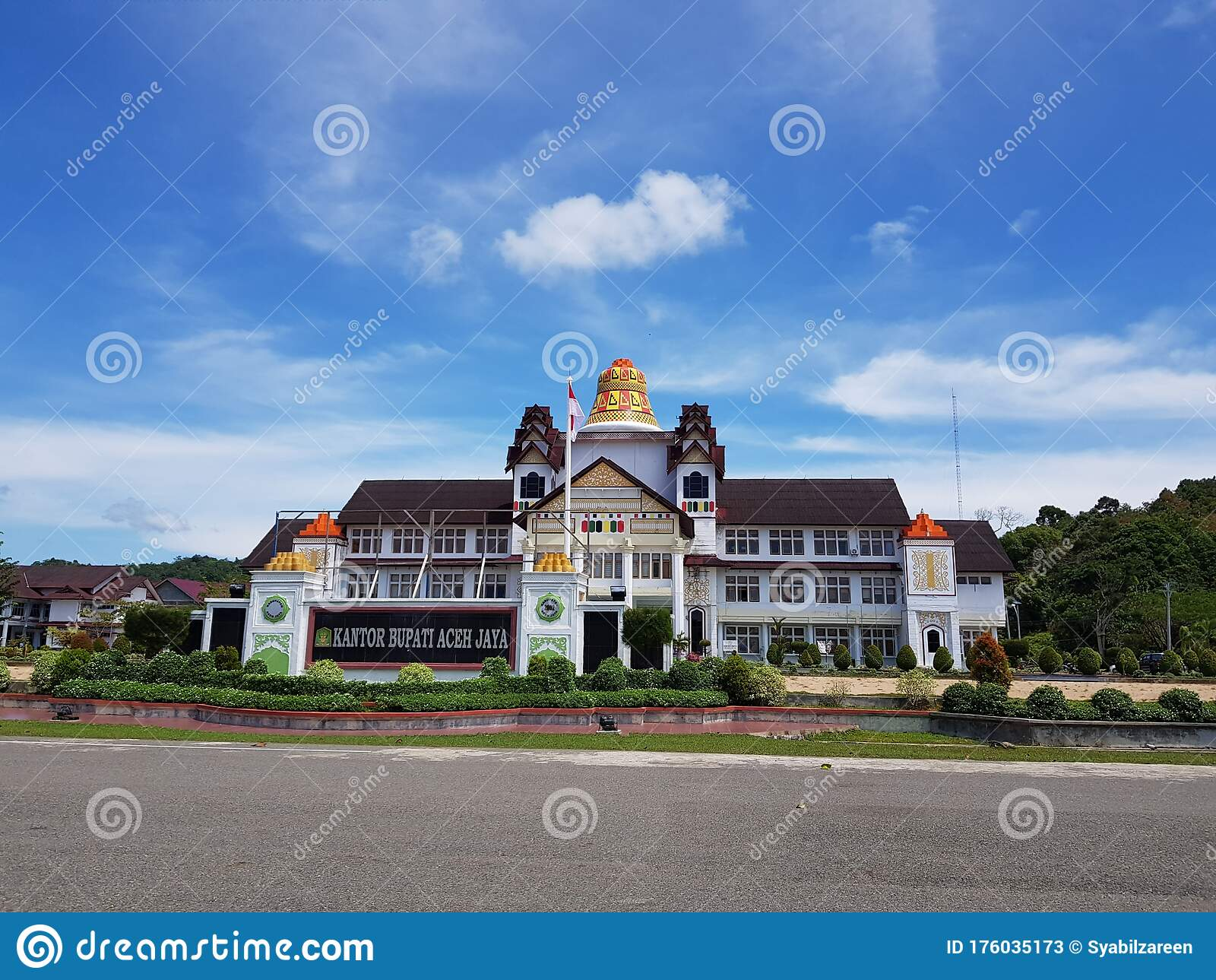 Regent S Office Of Aceh Jaya Stock Image Image Of Holiday Landscape 176035173